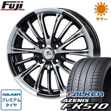 タイヤはフジ 送料無料 BLEST ブレスト バーンズテック VR-01 7J 7.00-18 FALKEN アゼニス FK510 225/45R18 18インチ サマータイヤ ホイール4本セット