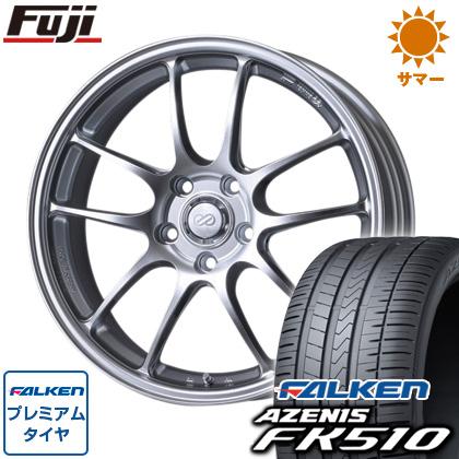 タイヤはフジ 送料無料 ENKEI エンケイ PF01 8J 8.00-18 FALKEN アゼニス FK510 235/40R18 18インチ サマータイヤ ホイール4本セット