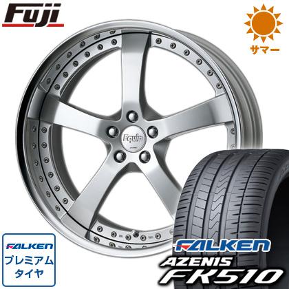 タイヤはフジ 送料無料 WORK ワーク エクイップ E05 8.5J 8.50-20 FALKEN アゼニス FK510 245/35R20 20インチ サマータイヤ ホイール4本セット