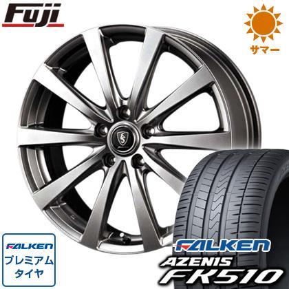 タイヤはフジ 送料無料 MID ユーロスピード G10 8J 8.00-18 FALKEN アゼニス FK510 235/40R18 18インチ サマータイヤ ホイール4本セット