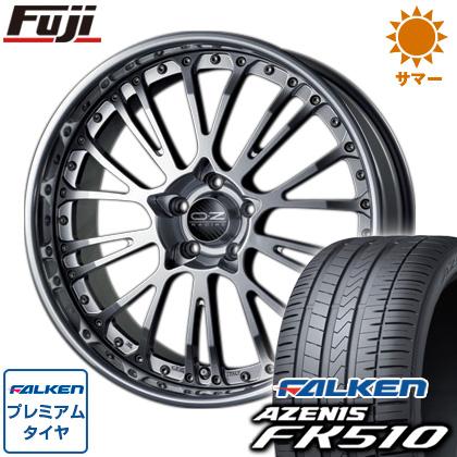 タイヤはフジ 送料無料 OZ ボッティチェッリ3 8J 8.00-19 FALKEN アゼニス FK510 225/40R19 19インチ サマータイヤ ホイール4本セット