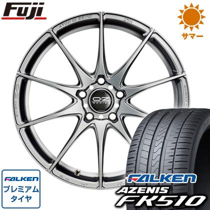 タイヤはフジ 送料無料 ベンツSクラス(W222/C217) OZ フォーミュラHLT F:8.50-19 R:10.00-19 FALKEN アゼニス FK510 F:245/45R19 R:275/40R19 サマータイヤ ホイール4本セット 輸入車