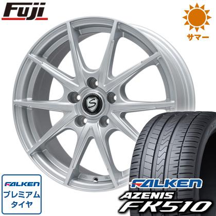 タイヤはフジ 送料無料 BRANDLE ブランドル 039 7.5J 7.50-18 FALKEN アゼニス FK510 225/40R18 18インチ サマータイヤ ホイール4本セット