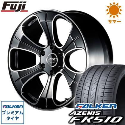 タイヤはフジ 送料無料 ハイエース200系 M-TECHNO エムテクノ M.T.S. MJ20-01S 8.5J 8.50-20 FALKEN アゼニス FK510 225/35R20 20インチ サマータイヤ ホイール4本セット