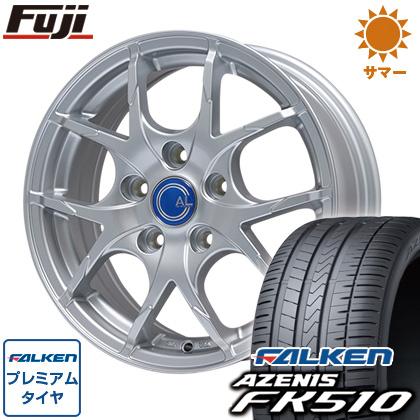 タイヤはフジ 送料無料 BRANDLE ブランドル M69 7.5J 7.50-18 FALKEN アゼニス FK510 225/40R18 18インチ サマータイヤ ホイール4本セット