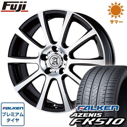 タイヤはフジ 送料無料 TECHNOPIA テクノピア アドニス ISR 7.5J 7.50-18 FALKEN アゼニス FK510 225/45R18 18インチ サマータイヤ ホイール4本セット