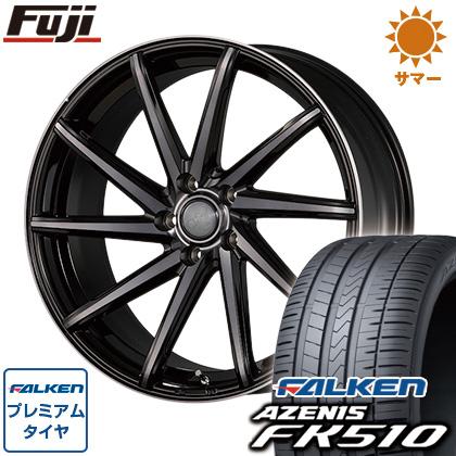 タイヤはフジ 送料無料 KOSEI JSC グロッグ 8J 8.00-19 FALKEN アゼニス FK510 235/40R19 19インチ サマータイヤ ホイール4本セット