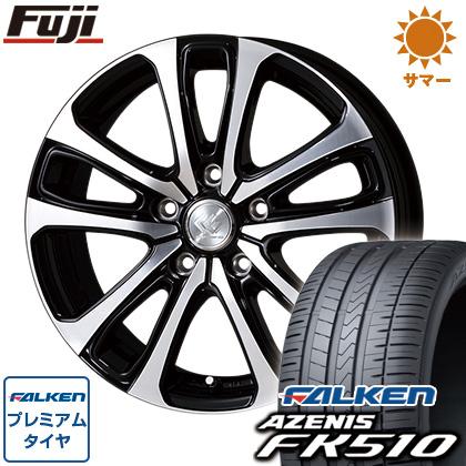 FALKEN TOPY トピー サマータイヤ 17インチ アゼニス 6.50-17 205/50R17 セレブロ 6.5J FK510 ホイール4本セット 送料無料 タイヤはフジ LF5