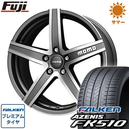 タイヤはフジ 送料無料 MOMO モモ ハイパースターEVO 8J 8.00-18 FALKEN アゼニス FK510 235/45R18 18インチ サマータイヤ ホイール4本セット