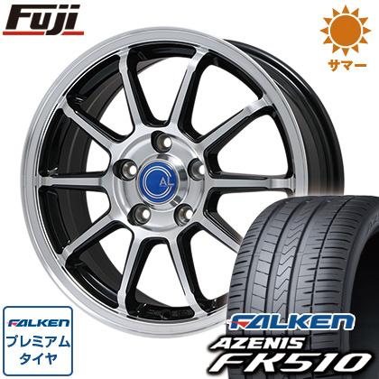 タイヤはフジ 送料無料 BRANDLE ブランドル M60B 7.5J 7.50-18 FALKEN アゼニス FK510 225/40R18 18インチ サマータイヤ ホイール4本セット