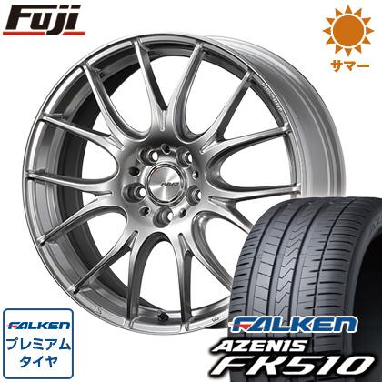 タイヤはフジ 送料無料 RAYS レイズ ホムラ 2X7PLUS 7.5J 7.50-19 FALKEN アゼニス FK510 225/45R19 19インチ サマータイヤ ホイール4本セット