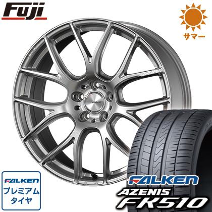 タイヤはフジ 送料無料 RAYS レイズ ホムラ 2X7AG 8J 8.00-19 FALKEN アゼニス FK510 225/40R19 19インチ サマータイヤ ホイール4本セット