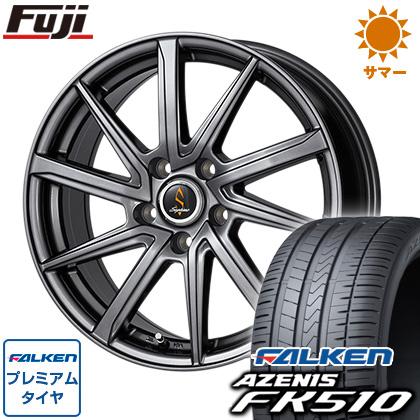 タイヤはフジ 送料無料 WORK ワーク セプティモ G01 ダークグレー 7J 7.00-17 FALKEN アゼニス FK510 215/45R17 17インチ サマータイヤ ホイール4本セット