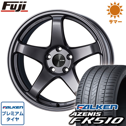 タイヤはフジ 送料無料 ENKEI エンケイ PF05 7.5J 7.50-19 FALKEN アゼニス FK510 225/45R19 19インチ サマータイヤ ホイール4本セット