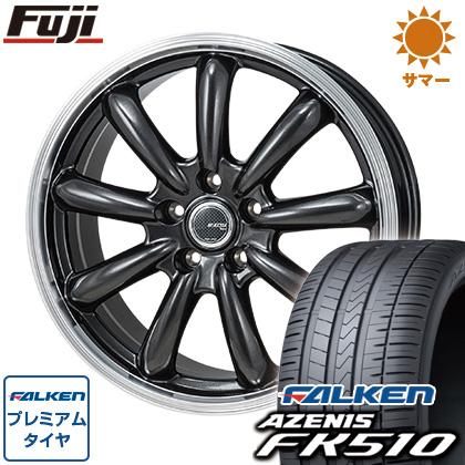 タイヤはフジ 送料無料 MONZA モンツァ JPスタイル バーニー 7J 7.00-17 FALKEN アゼニス FK510 215/45R17 17インチ サマータイヤ ホイール4本セット