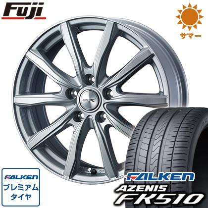 タイヤはフジ 送料無料 WEDS ウェッズ ジョーカー シェイク 7J 7.00-17 FALKEN アゼニス FK510 215/45R17 17インチ サマータイヤ ホイール4本セット