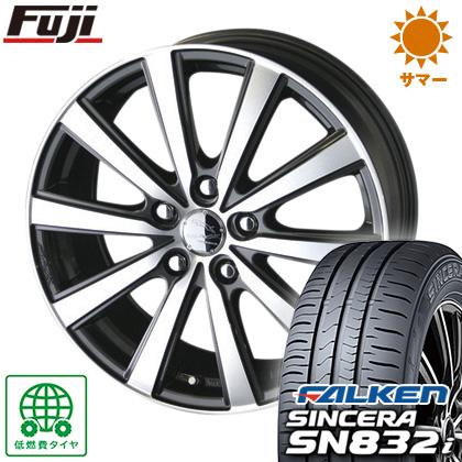 タイヤはフジ 送料無料 KYOHO 共豊 スマック VI-R 6.5J 6.50-16 FALKEN シンセラ SN832i 205/60R16 16インチ サマータイヤ ホイール4本セット
