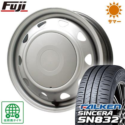 タイヤはフジ 送料無料 ELBE エルベ オリジナル スチール 4J 4.00-13 FALKEN シンセラ SN832i 145/80R13 13インチ サマータイヤ ホイール4本セット