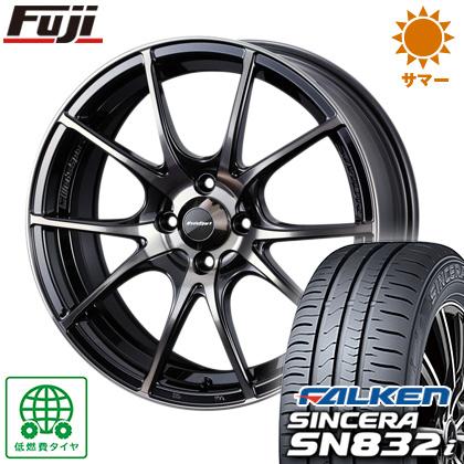 タイヤはフジ 送料無料 WEDS ウェッズスポーツ SA-10R 5J 5.00-15 FALKEN シンセラ SN832i 165/55R15 15インチ サマータイヤ ホイール4本セット