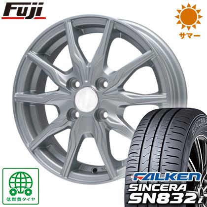 タイヤはフジ 送料無料 BRANDLE ブランドル 008 4J 4.00-13 FALKEN シンセラ SN832i 145/80R13 13インチ サマータイヤ ホイール4本セット