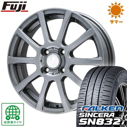 タイヤはフジ 送料無料 BRANDLE ブランドル 565T 4J 4.00-13 FALKEN シンセラ SN832i 155/65R13 13インチ サマータイヤ ホイール4本セット