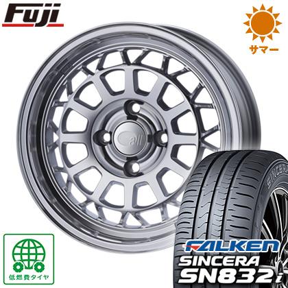 タイヤはフジ 送料無料 ENKEI エンケイ allシリーズ オールナイン 6J 6.00-15 FALKEN シンセラ SN832i 185/55R15 15インチ サマータイヤ ホイール4本セット