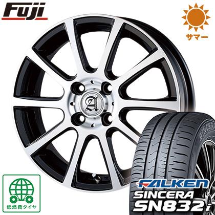 タイヤはフジ 送料無料 TECHNOPIA テクノピア アドニス ISR 4.5J 4.50-14 FALKEN シンセラ SN832i 155/65R14 14インチ サマータイヤ ホイール4本セット