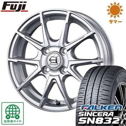 タイヤはフジ 送料無料 TECHNOPIA テクノピア アフロディーテ JX 4J 4.00-13 FALKEN シンセラ SN832i 155/65R13 13インチ サマータイヤ ホイール4本セット