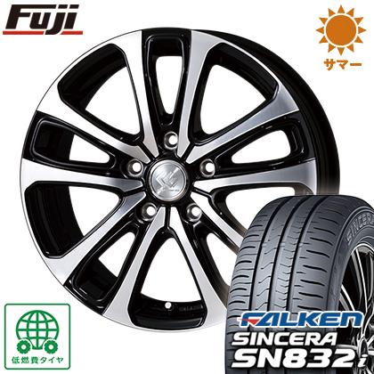 タイヤはフジ 送料無料 TOPY トピー セレブロ LF5 6.5J 6.50-16 FALKEN シンセラ SN832i 205/60R16 16インチ サマータイヤ ホイール4本セット