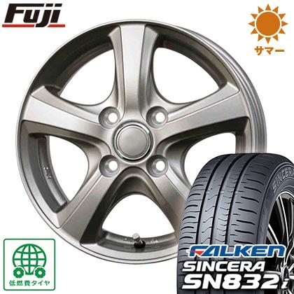 タイヤはフジ 送料無料 BRANDLE ブランドル F5 4J 4.00-13 FALKEN シンセラ SN832i 155/65R13 13インチ サマータイヤ ホイール4本セット