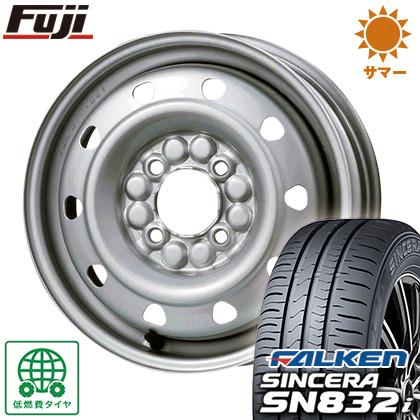 タイヤはフジ 送料無料 ELBE エルベ オリジナル スチール M52 4J 4.00-13 FALKEN シンセラ SN832i 155/65R13 13インチ サマータイヤ ホイール4本セット