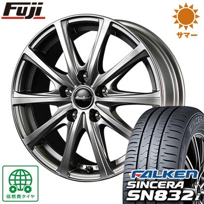 タイヤはフジ 送料無料 MID ユーロスピード V25 6.5J 6.50-16 FALKEN シンセラ SN832i 195/60R16 16インチ サマータイヤ ホイール4本セット