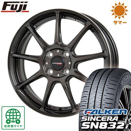 タイヤはフジ 送料無料 HOT STUFF ホットスタッフ クロススピード ハイパーエディションRS-9 4.5J 4.50-15 FALKEN シンセラ SN832i 165/55R15 15インチ サマータイヤ ホイール4本セット