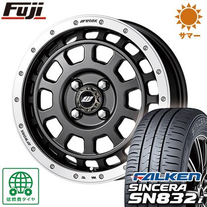 タイヤはフジ 送料無料 WORK ワーク クラッグ ティーグラビック 5J 5.00-15 FALKEN シンセラ SN832i 165/55R15 15インチ サマータイヤ ホイール4本セット