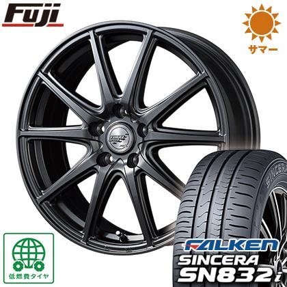 タイヤはフジ 送料無料 MID ファイナルスピード GR-ガンマ 5.5J 5.50-15 FALKEN シンセラ SN832i 185/55R15 15インチ サマータイヤ ホイール4本セット