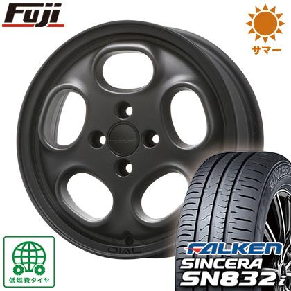 タイヤはフジ 送料無料 MLJ ハイペリオン ダイアル 4.5J 4.50-15 FALKEN シンセラ SN832i 165/55R15 15インチ サマータイヤ ホイール4本セット