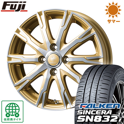 タイヤはフジ 送料無料 TOPY トピー ディルーチェ DX10 5.5J 5.50-15 FALKEN シンセラ SN832i 185/55R15 15インチ サマータイヤ ホイール4本セット