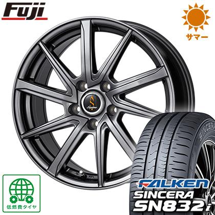 タイヤはフジ 送料無料 WORK ワーク セプティモ G01 ダークグレー 6.5J 6.50-16 FALKEN シンセラ SN832i 195/55R16 16インチ サマータイヤ ホイール4本セット