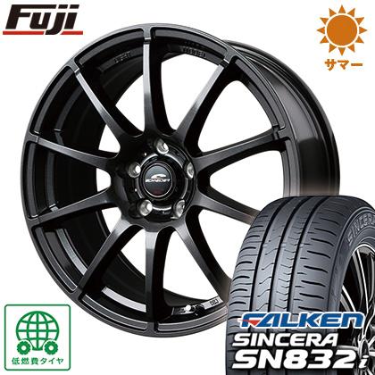 タイヤはフジ 送料無料 MID シュナイダー スタッグ 6.5J 6.50-16 FALKEN シンセラ SN832i 195/60R16 16インチ サマータイヤ ホイール4本セット