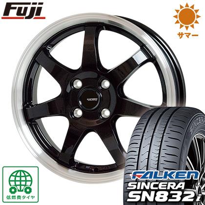 タイヤはフジ 送料無料 HOT STUFF ホットスタッフ ジースピード P-03 5.5J 5.50-15 FALKEN シンセラ SN832i 185/55R15 15インチ サマータイヤ ホイール4本セット