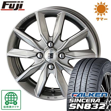 タイヤはフジ 送料無料 KYOHO 共豊 キョウホウ ザインSV 5.5J 5.50-14 FALKEN シンセラ SN832i 175/65R14 14インチ サマータイヤ ホイール4本セット