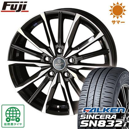 タイヤはフジ 送料無料 KYOHO 共豊 スマック プライム ヴァルキリー 6.5J 6.50-16 FALKEN シンセラ SN832i 195/55R16 16インチ サマータイヤ ホイール4本セット