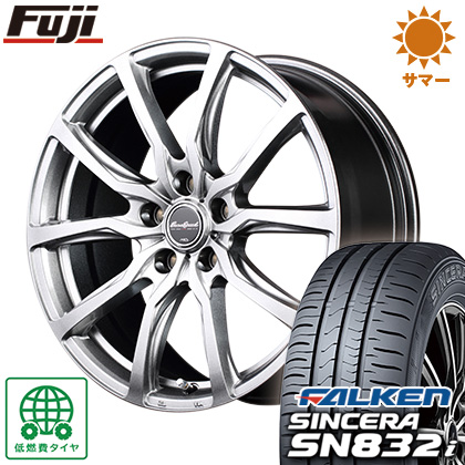 タイヤはフジ 送料無料 MID ユーロスピード G52 6.5J 6.50-16 FALKEN シンセラ SN832i 195/60R16 16インチ サマータイヤ ホイール4本セット
