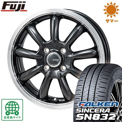 タイヤはフジ 送料無料 MONZA モンツァ JPスタイル バーニー 4J 4.00-13 FALKEN シンセラ SN832i 165/65R13 13インチ サマータイヤ ホイール4本セット