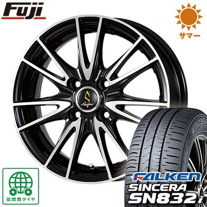タイヤはフジ 送料無料 WORK ワーク セプティモ G02 ブラックポリッシュ 5.5J 5.50-15 FALKEN シンセラ SN832i 185/55R15 15インチ サマータイヤ ホイール4本セット