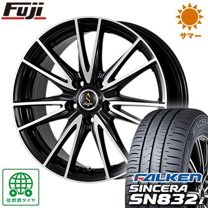 タイヤはフジ 送料無料 WORK ワーク セプティモ G02 ブラックポリッシュ 6J 6.00-15 FALKEN シンセラ SN832i 195/65R15 15インチ サマータイヤ ホイール4本セット
