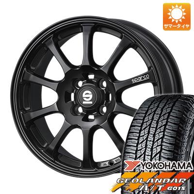 タイヤはフジ 送料無料 OZ SPARCO ドリフト 4.5J 4.50-15 YOKOHAMA ジオランダー A/T G015 RBL(限定) 165/60R15 15インチ サマータイヤ ホイール4本セット