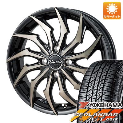 タイヤはフジ 送料無料 MONZA モンツァ ワーウィック ハーベル 4.5J 4.50-15 YOKOHAMA ジオランダー A/T G015 RBL(限定) 165/60R15 15インチ サマータイヤ ホイール4本セット