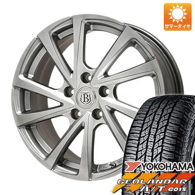 タイヤはフジ 送料無料 BRANDLE ブランドル E04 6.5J 6.50-16 YOKOHAMA ジオランダー A/T G015 RBL 215/70R16 16インチ サマータイヤ ホイール4本セット