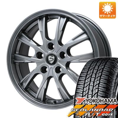 タイヤはフジ 送料無料 BRANDLE ブランドル 486 6.5J 6.50-16 YOKOHAMA ジオランダー A/T G015 RBL 215/70R16 16インチ サマータイヤ ホイール4本セット
